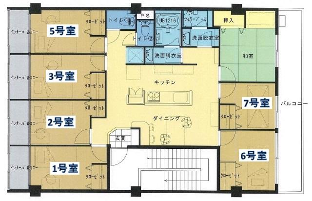 春日井シェアハウス ボヌール・7号室の間取り
