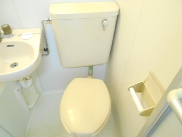 フラワーマンション 302号室のトイレ