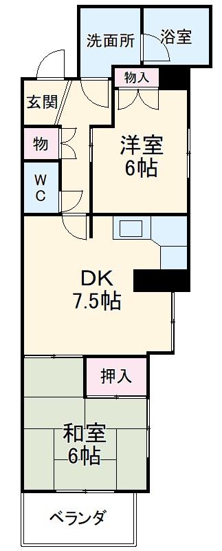 フローラルハイツ澤田・401号室の間取り