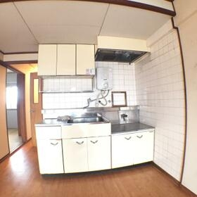 第二杉本ビル 405号室のキッチン