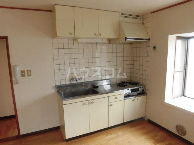 中澤マンション 201号室のキッチン