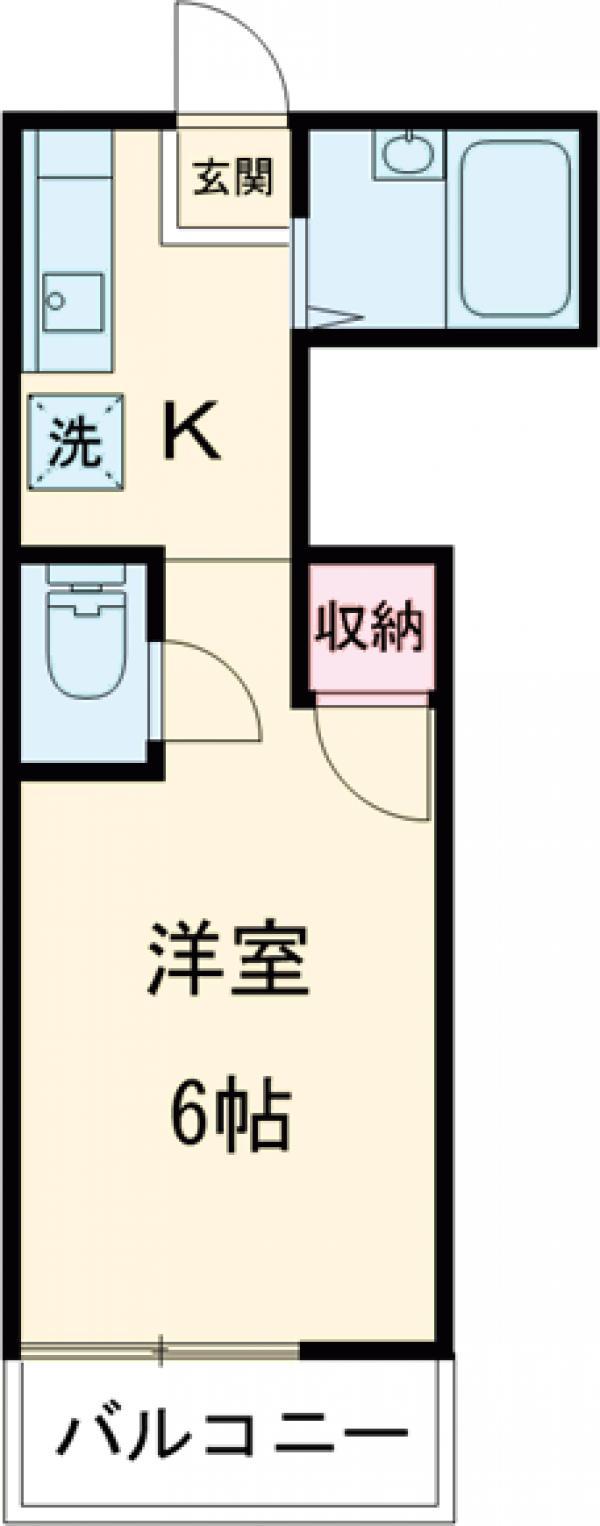 ポルシェ聖蹟桜ヶ丘Ⅱ・206号室の間取り