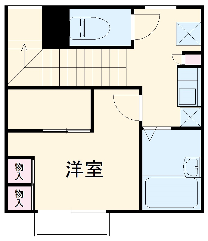 レオパレスSUZUKIⅡ・204号室の間取り