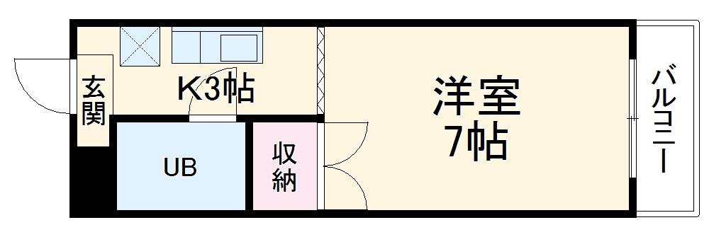 グリーンハイツ浅野・3B号室の間取り