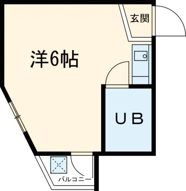 ヤングライフ霞ヶ関 302号室の間取り