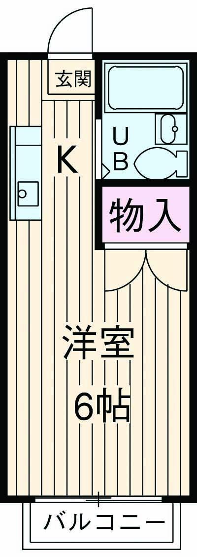 エステートピア シムラⅠ 102号室の間取り