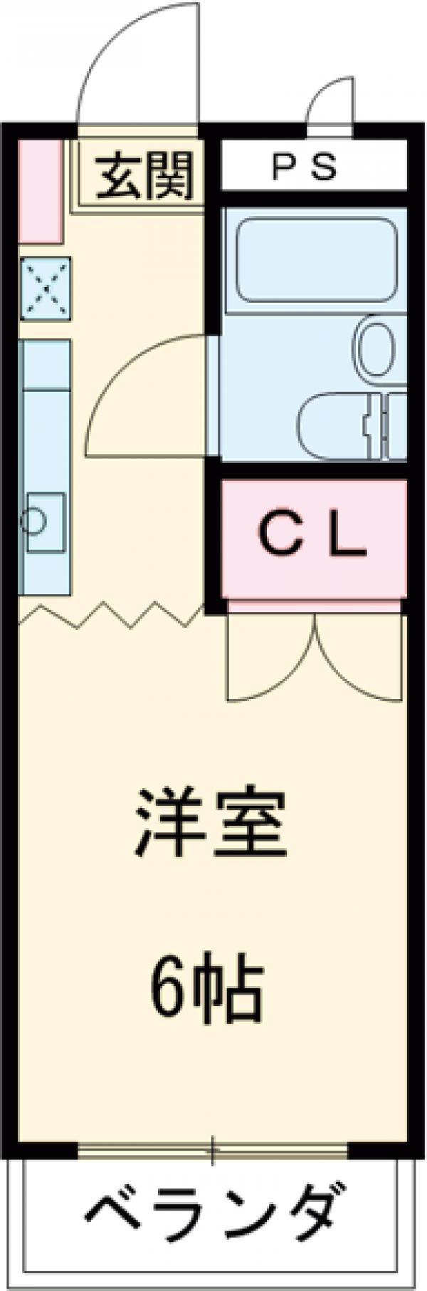 リバーサイド三田Ⅱ・220号室の間取り