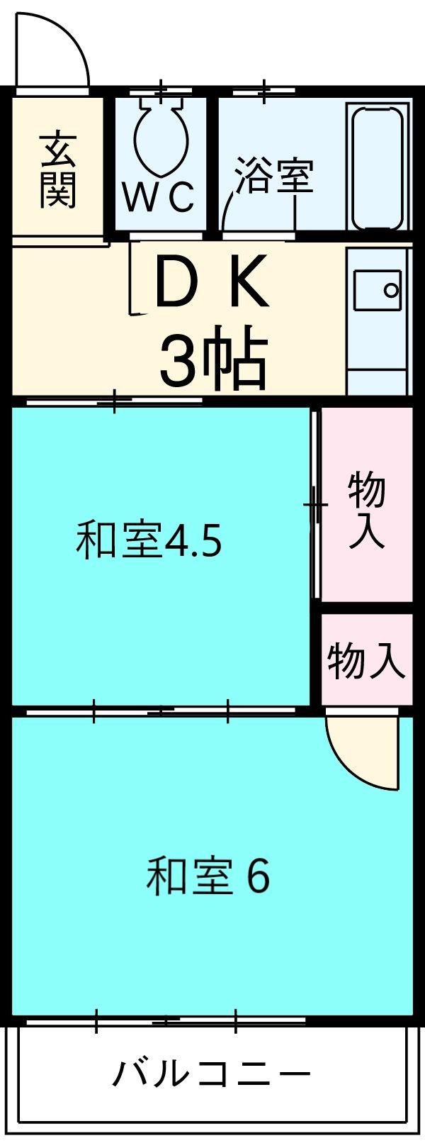 緒川荘 201号室の間取り