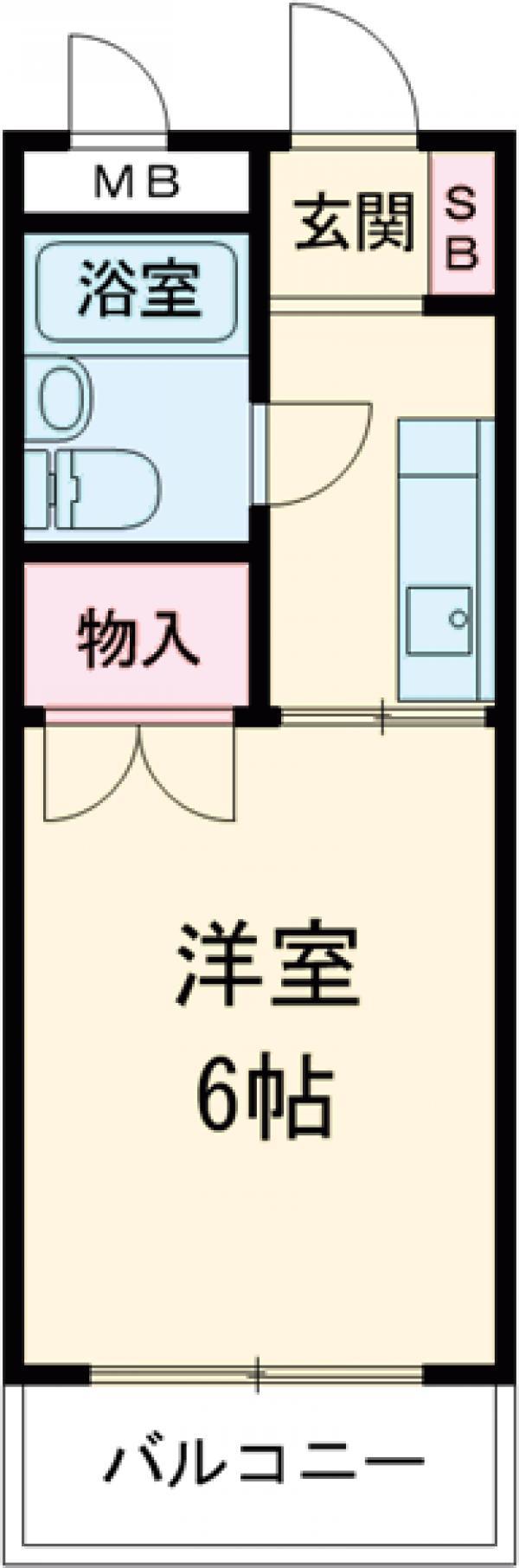 グリーンパレス秋川・111号室の間取り