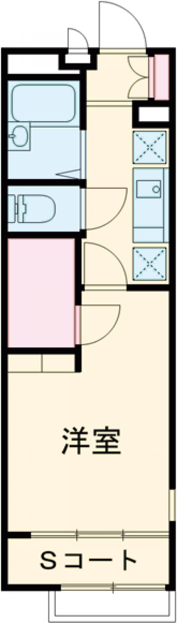 レオパレスアルタイルⅡ・105号室の間取り