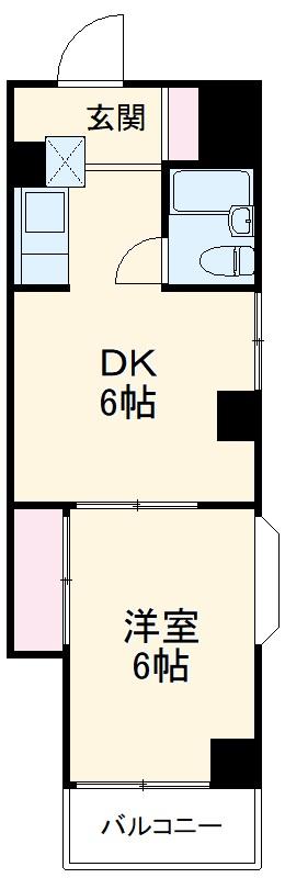 ウィンド聖蹟桜ヶ丘 303号室の間取り