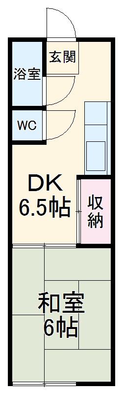 新栄荘・B-5号室の間取り