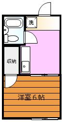 ジュネス中川 102号室の間取り