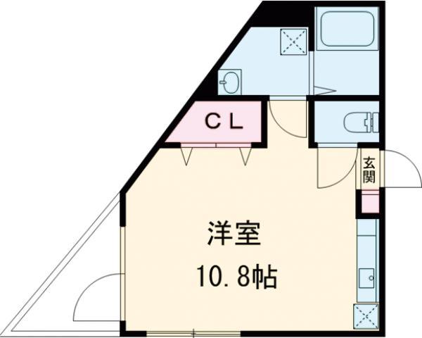 SOLID聖蹟桜ヶ丘弐番館 102号室の間取り