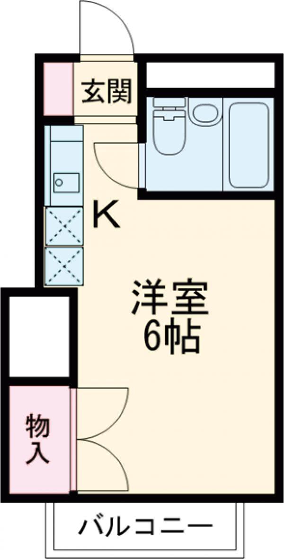 第2健光荘・208号室の間取り