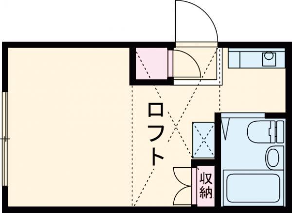 高尾シティコーポ・206号室の間取り