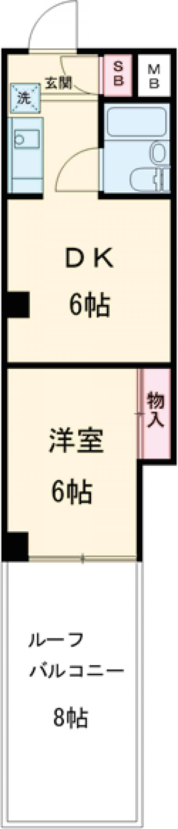 ウィンド聖蹟桜ヶ丘 508号室の間取り