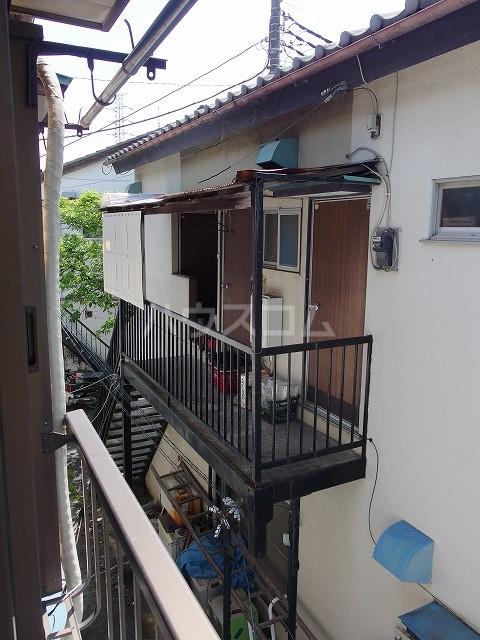 宮本荘 55号室のバルコニー