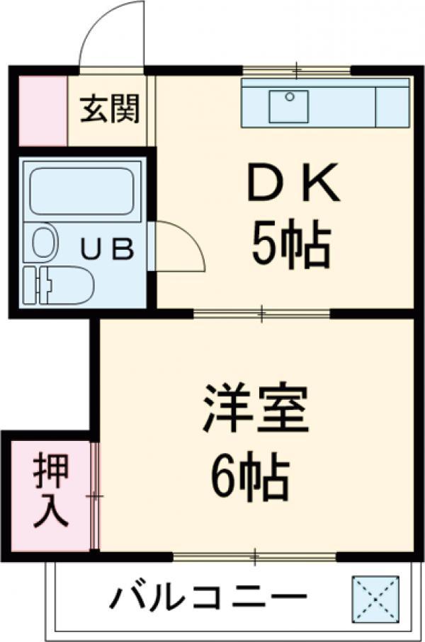 コーポ吉田 202号室の間取り