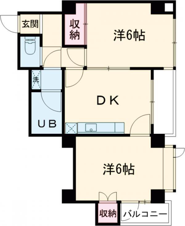 第10宮田ビル 302号室の間取り