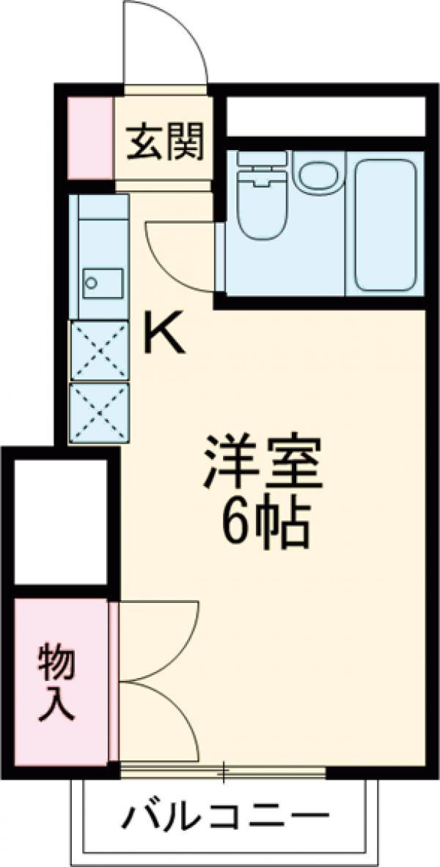 第2健光荘・202号室の間取り