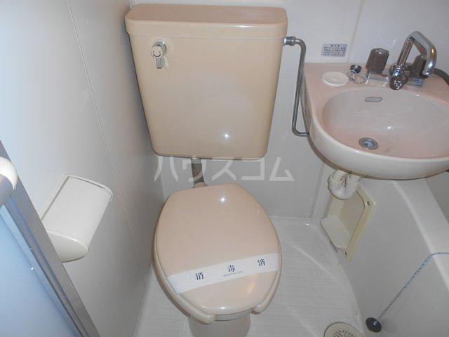 リーベル上溝 201号室のトイレ
