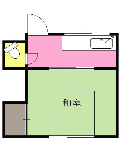 小林荘・2-4号室の間取り