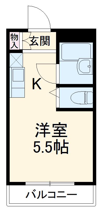 SVSビル・302号室の間取り