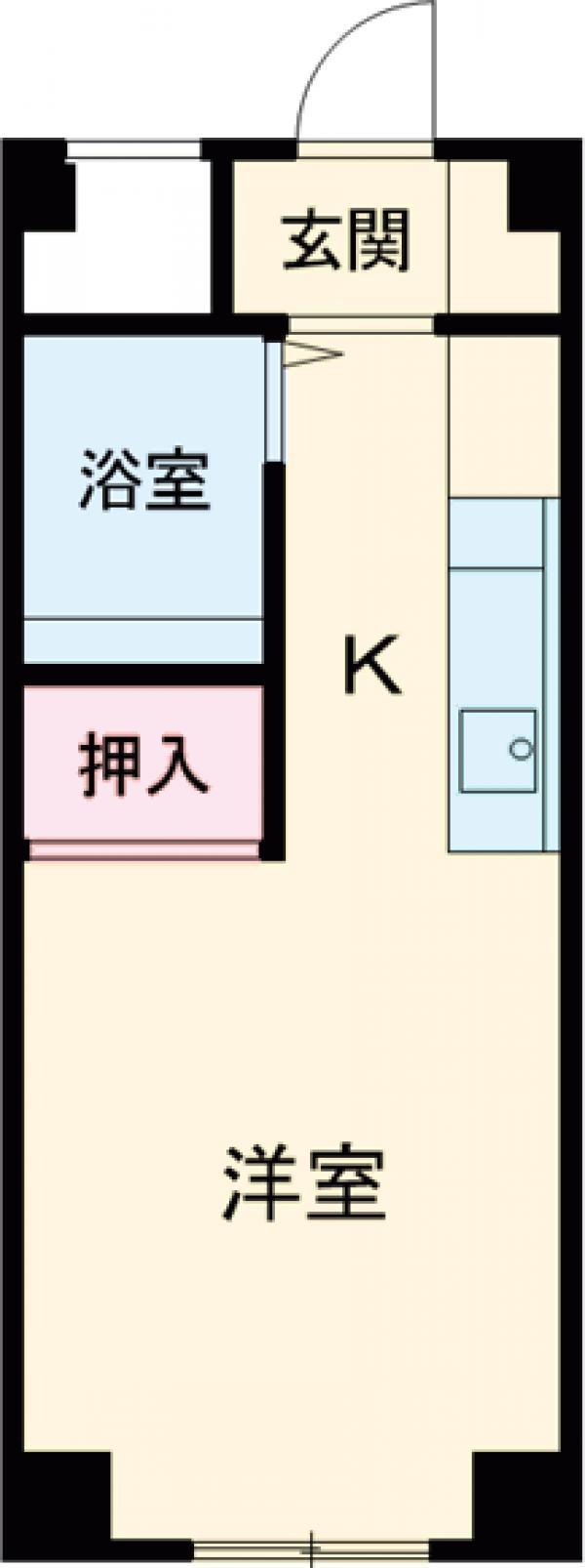 濱村女子学生会館 205号室の間取り