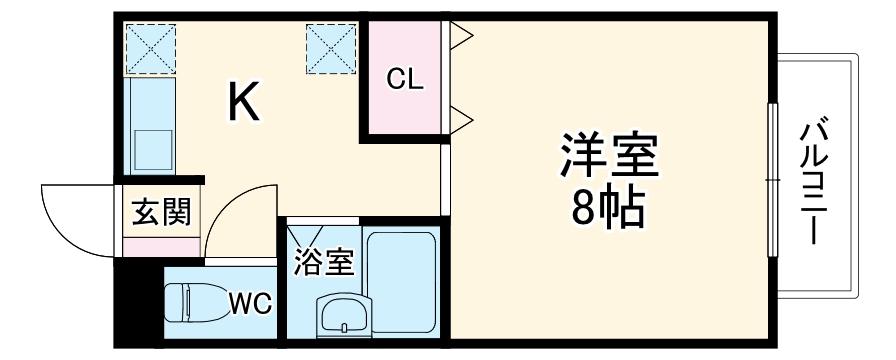 リバーサイド名塚・101号室の間取り