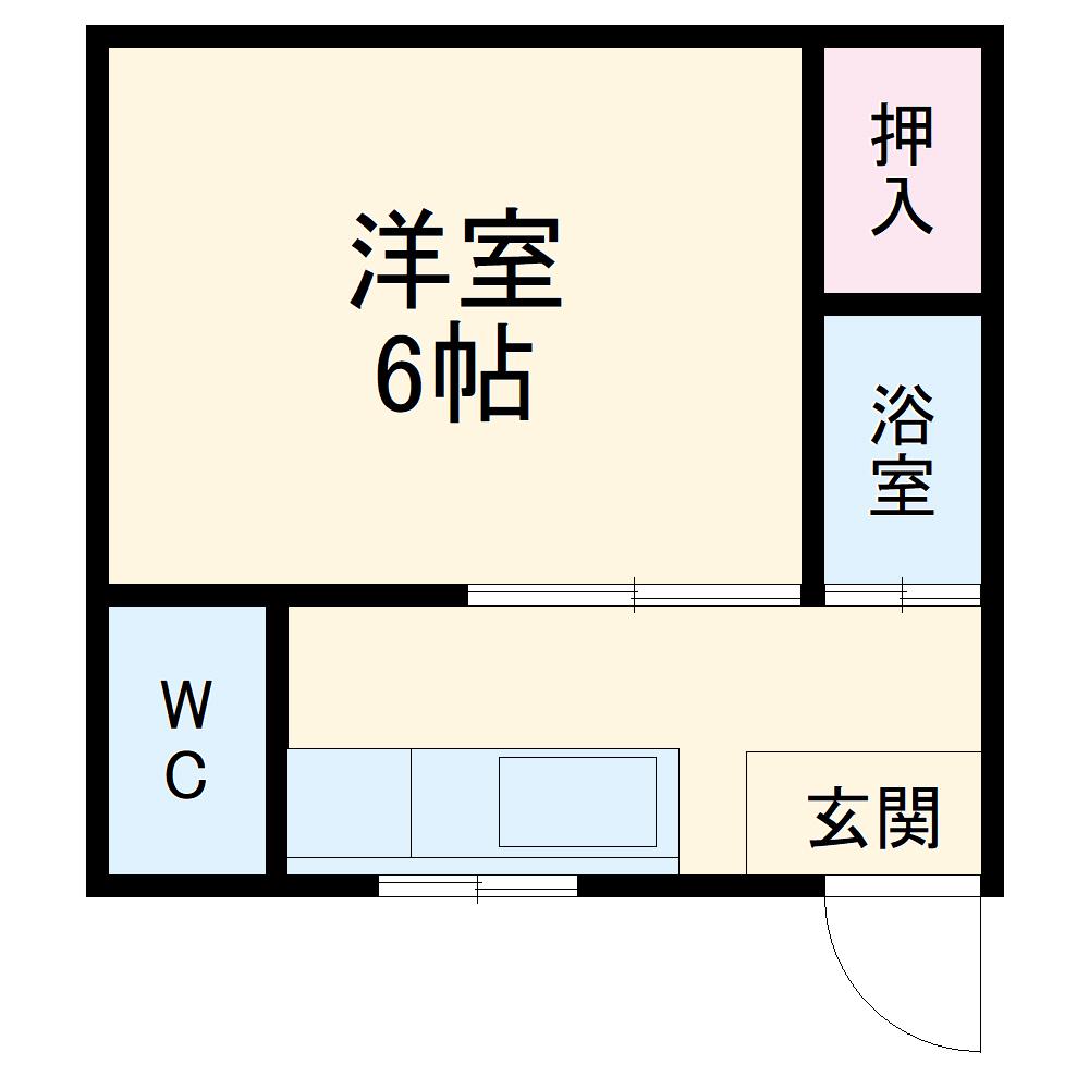 松山荘 8号室の間取り