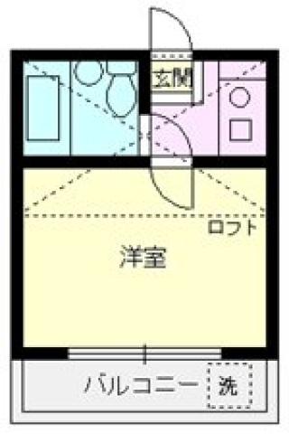 アートパレス上福岡 202号室の間取り