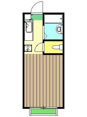 コーポ二葉2号A棟・111号室の間取り