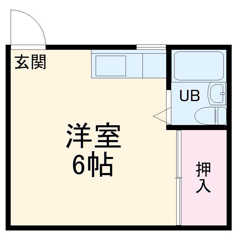 松山荘・18号室の間取り