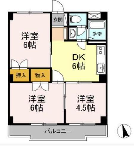 HSマンション・302号室の間取り