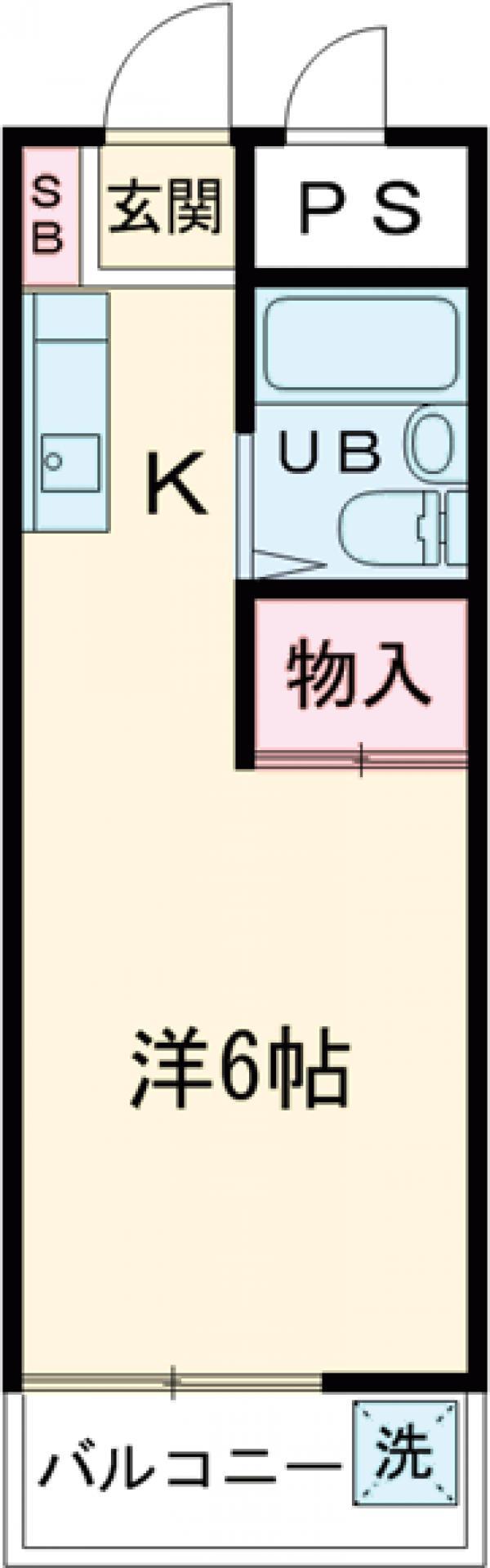 グリーンハイム桜塚・306号室の間取り