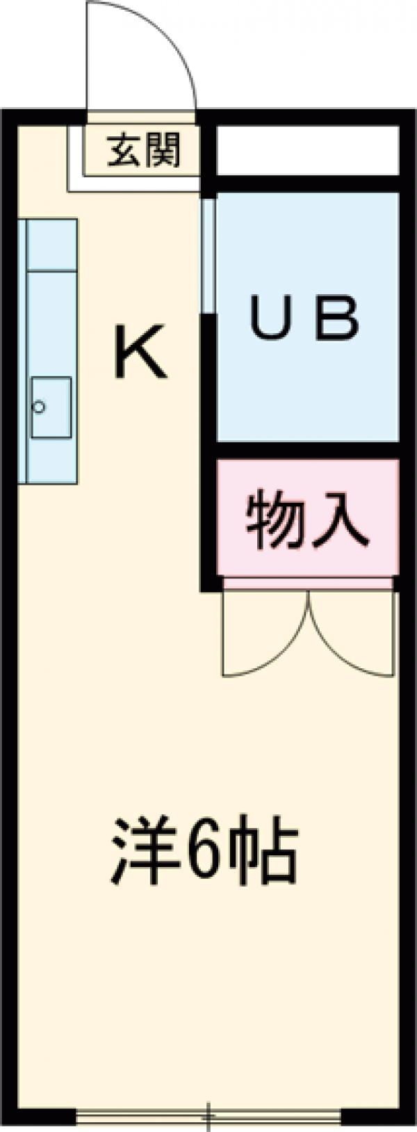 第2コーポ小山・102号室の間取り