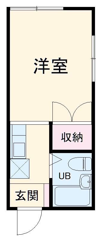 ファーストシティ橋本 205号室の間取り