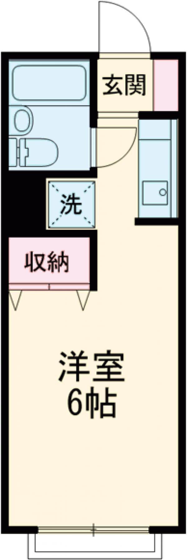 エスプリ片倉A・105号室の間取り