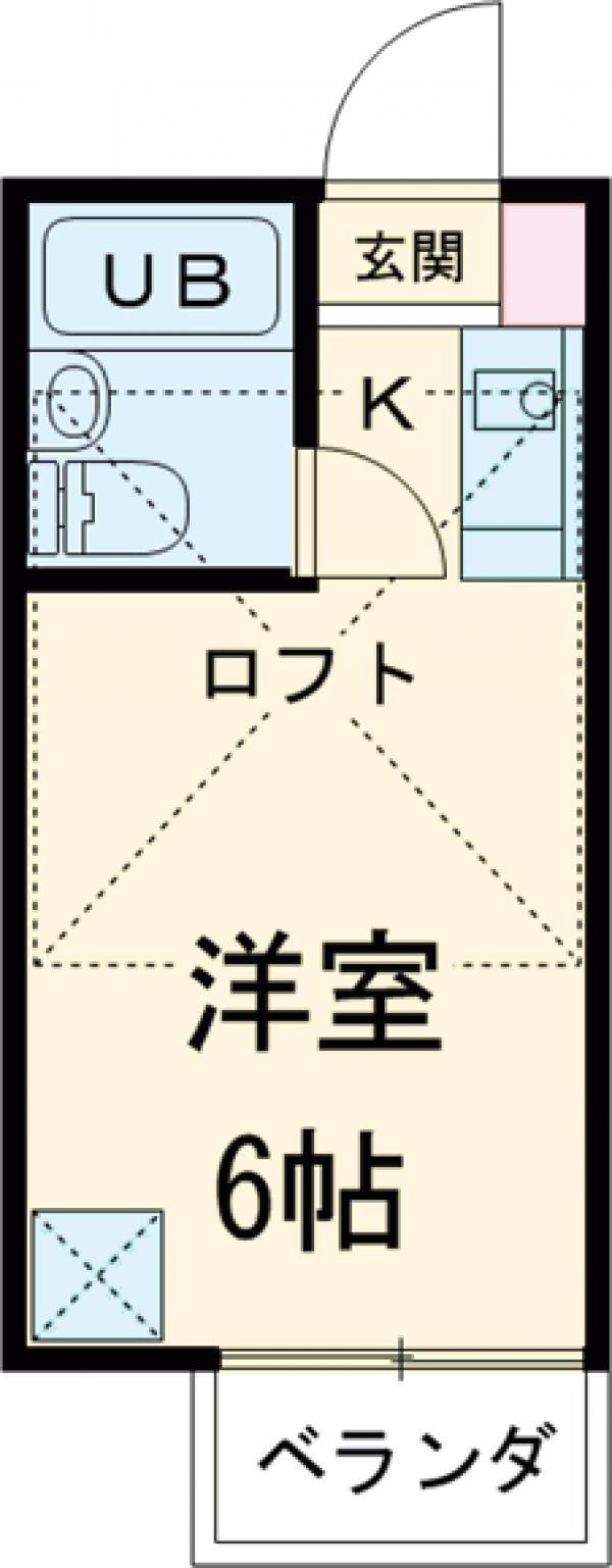 サウスハイム入曽 00201号室の間取り