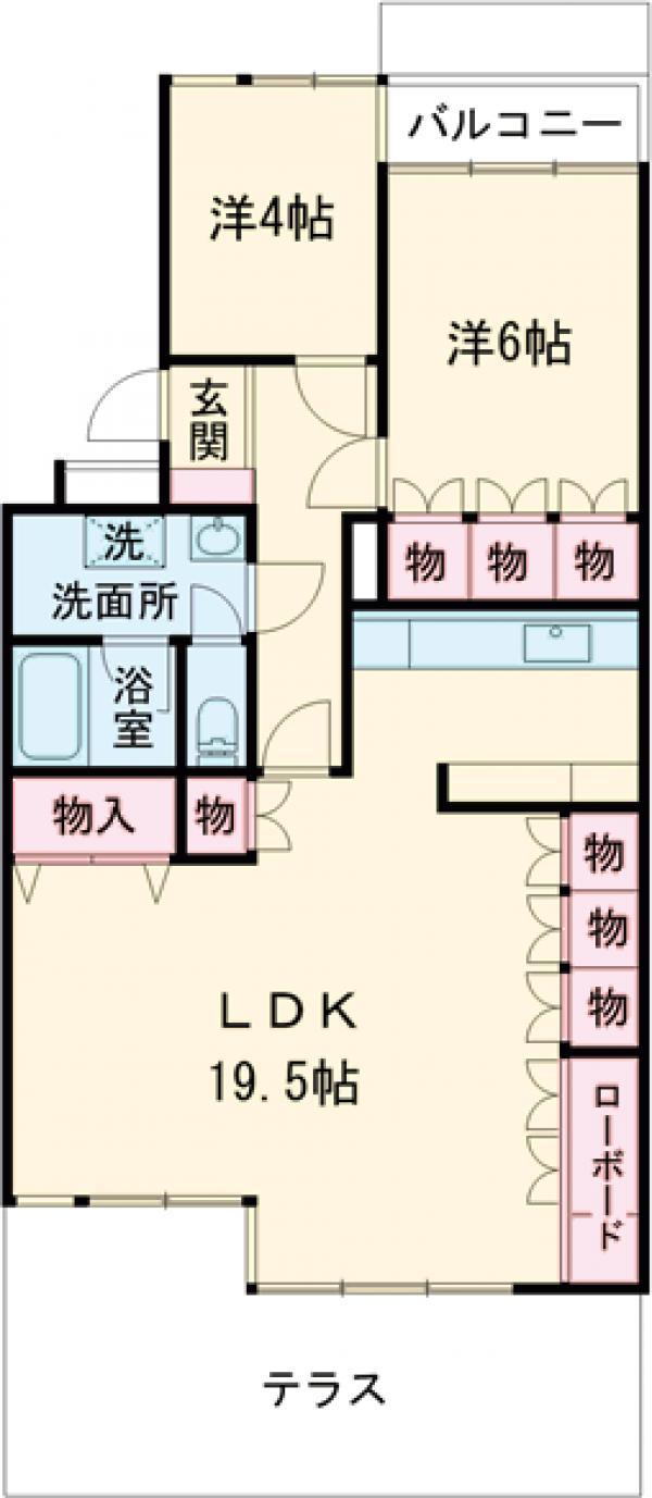 聖蹟桜ヶ丘ガーデンホーム 203号室の間取り