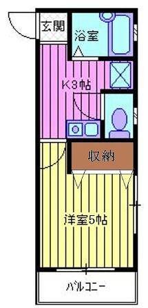 レジデンス上野田Ⅰ・106号室の間取り