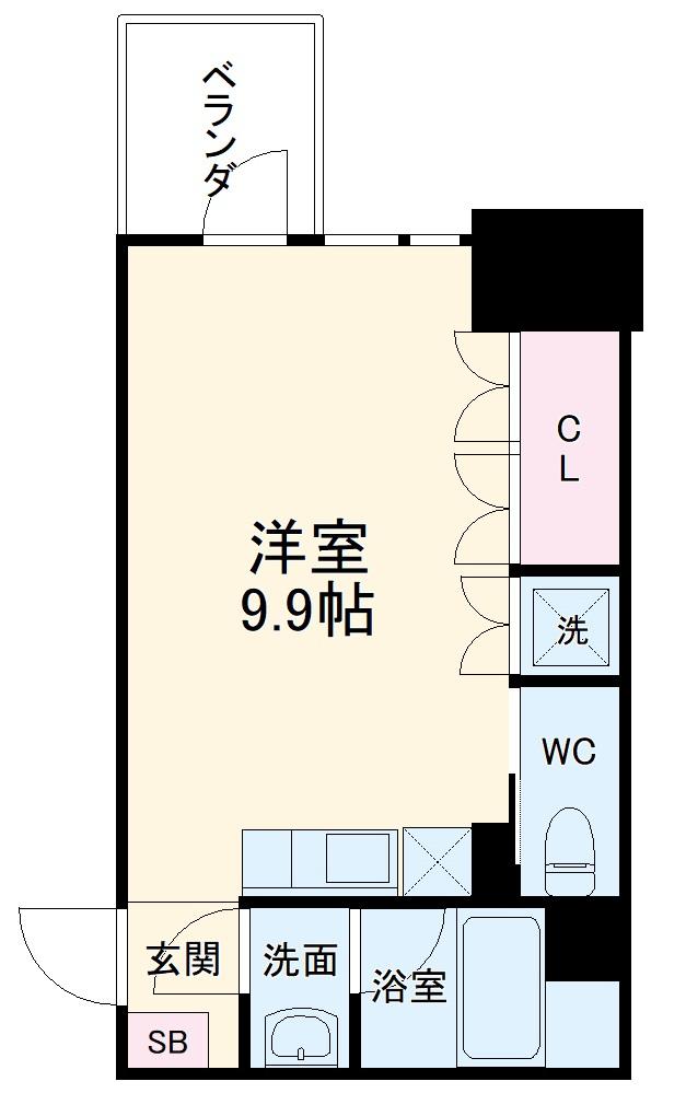 COZY名城公園・602号室の間取り