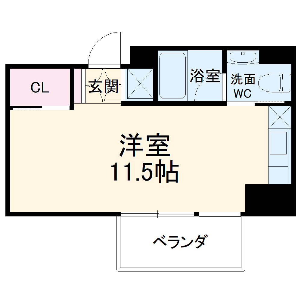 COZY名城公園・803号室の間取り