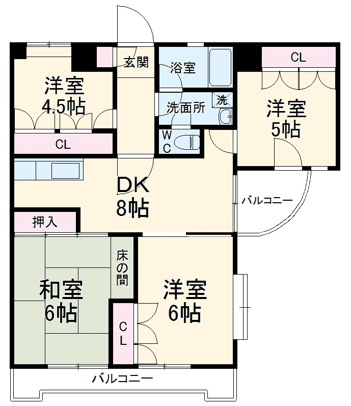 日建シェトワ-5 201号室の間取り