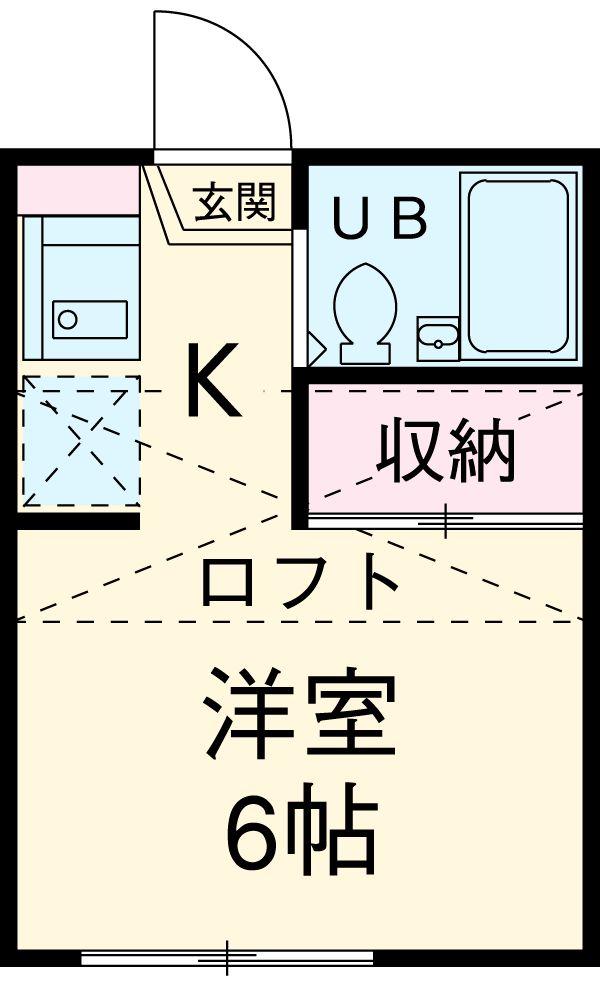 ユーキャン上小田井・202号室の間取り