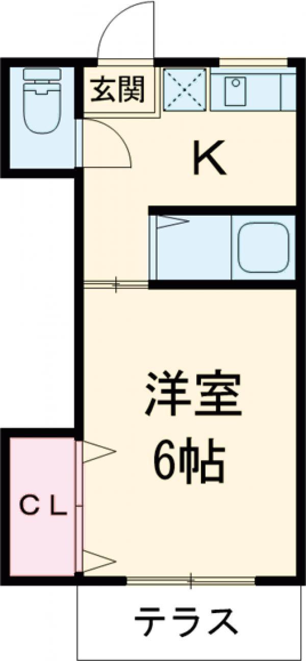竹屋コーポ 207号室の間取り