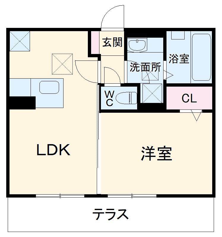 仮称)D-room春日井市高蔵寺町7丁目ハイツ・102号室の間取り