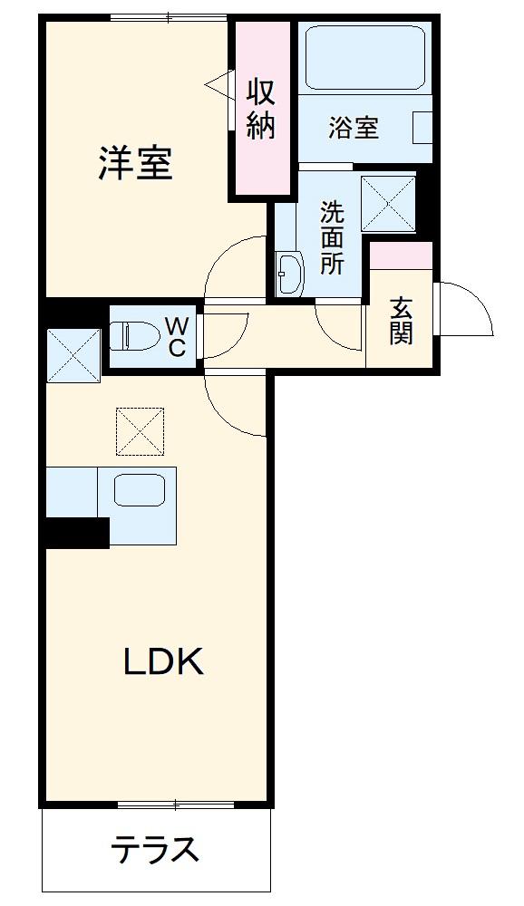 仮称)D-room春日井市高蔵寺町7丁目ハイツ・103号室の間取り