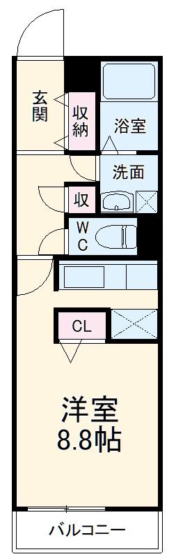 パンシオン喜多山 103号室の間取り